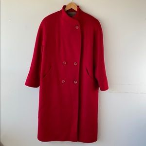 Signature Expressions Vintage Red Wool Pea Coat